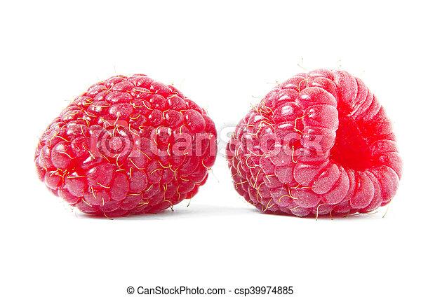 ripe raspberries - csp39974885