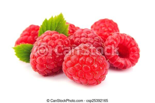 Ripe raspberries - csp25392165