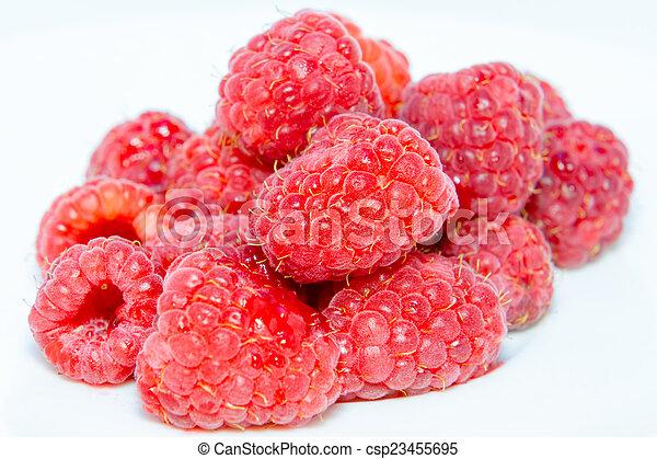 Ripe raspberries - csp23455695