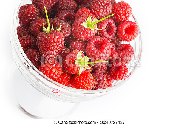 ripe raspberries - csp40727437