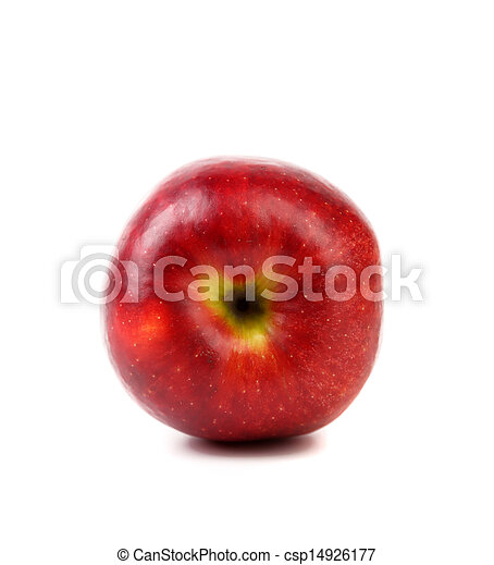 Ripe red apple. Isolated on a white background. - csp14926177