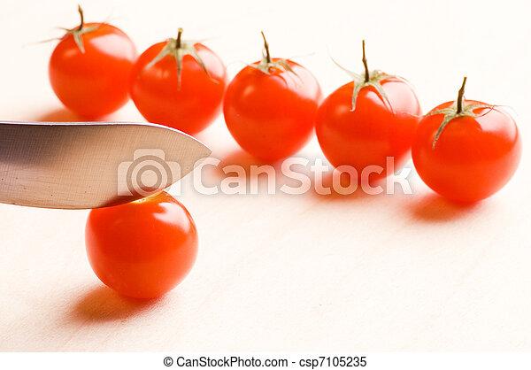 Ripe tomatoes - csp7105235