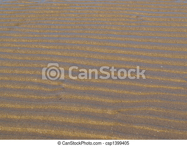 Ripples in the sand - csp1399405