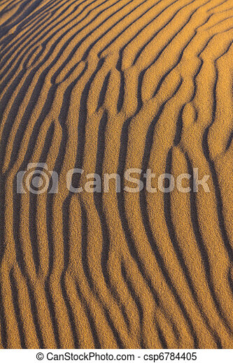 Ripples in the sand - csp6784405
