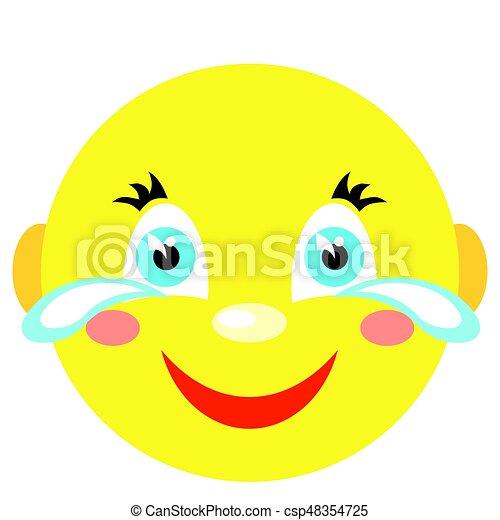 Smiley ríe y llora. - csp48354725