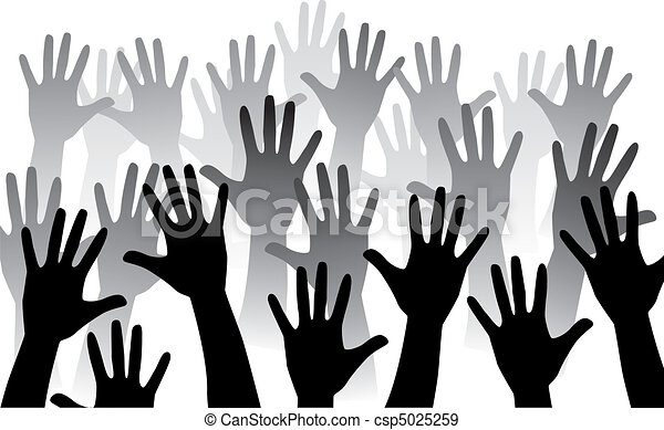 rise hand - csp5025259