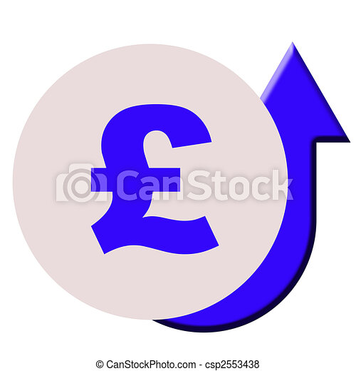 Rising English Pounds Currency Rising English Or British Pounds