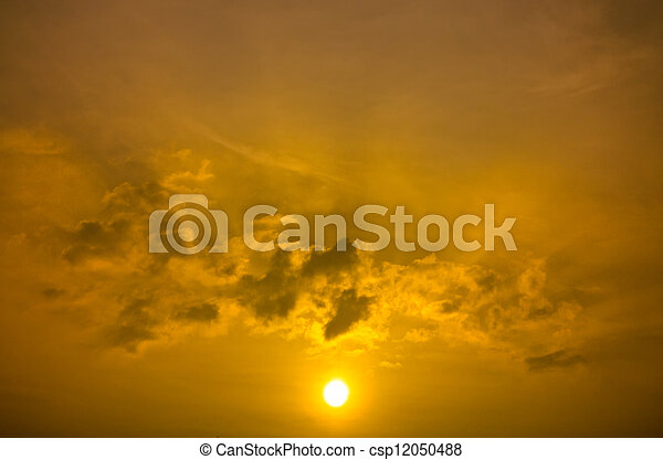 Rising Gold Sun Beam - csp12050488