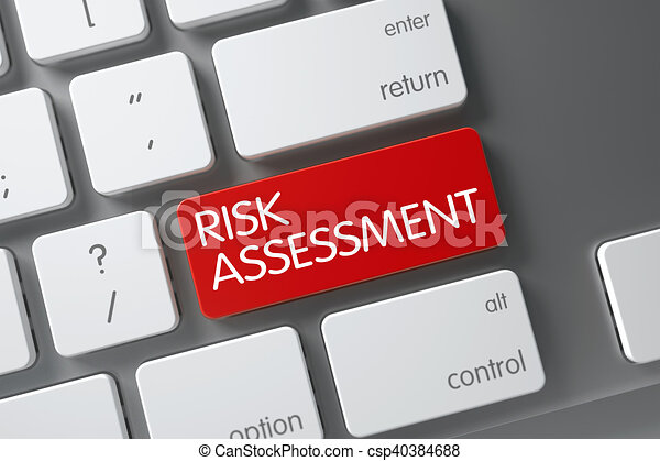 Risk Assessment Button. 3D. - csp40384688