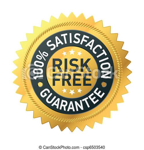 risk-free, garantie, étiquette - csp6503540