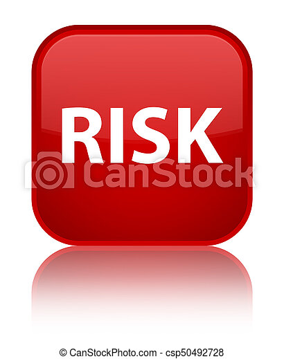 Risk special red square button - csp50492728