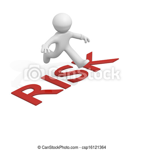 3d man jumping over risk business concept stock illustration rh canstockphoto com risk clipart free clipart risk assessment