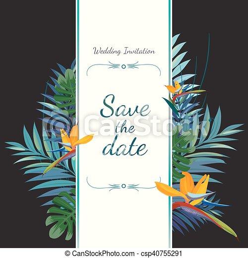 risparmiare, invito, card., date., matrimonio - csp40755291