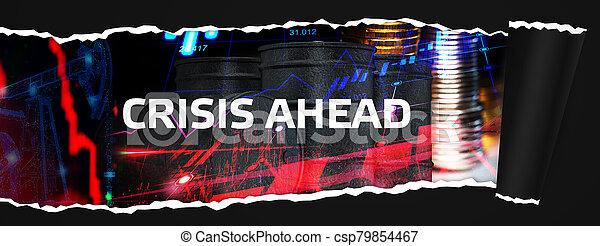 risque, concept, crise, devant, économique, problèmes, financier, depression. - csp79854467
