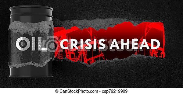 risque, concept, devant, depression., crise, problèmes, financier, économique - csp79219909