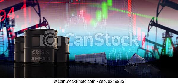 risque, concept, devant, depression., crise, problèmes, financier, économique - csp79219935