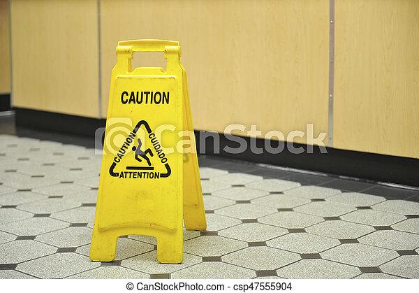 Ristorante segno pavimento bagnato. ristorante pavimenti