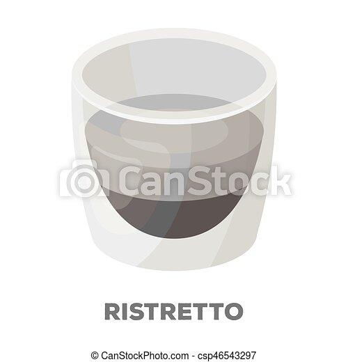 Ristretto Glassdifferent Types Of Coffee Single Icon In Monochrome