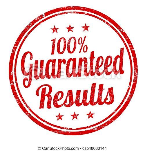 risultati, 100%, segno, guaranteed, francobollo, o - csp48080144