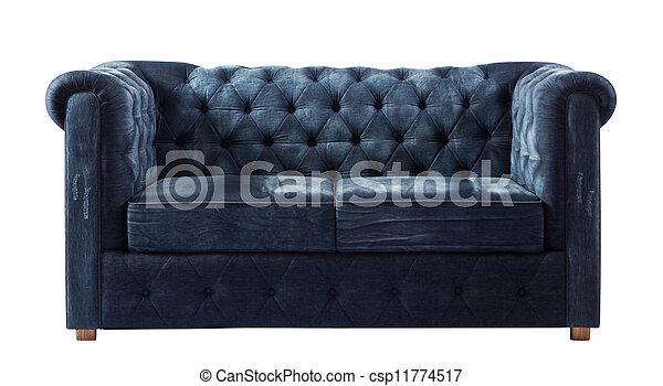 ritaglio, divano, isolato, lussuoso, fondo, percorso, jean, bianco - csp11774517