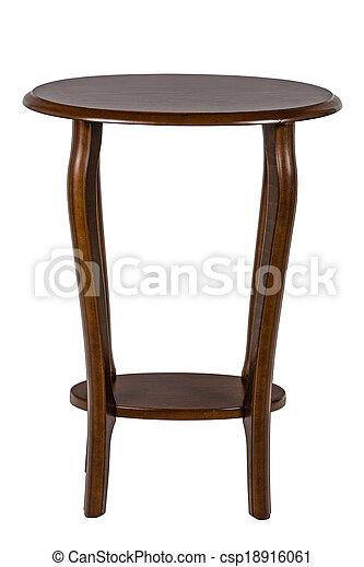 ritaglio, isolato, fondo, percorso, bianco, tavola rotonda - csp18916061