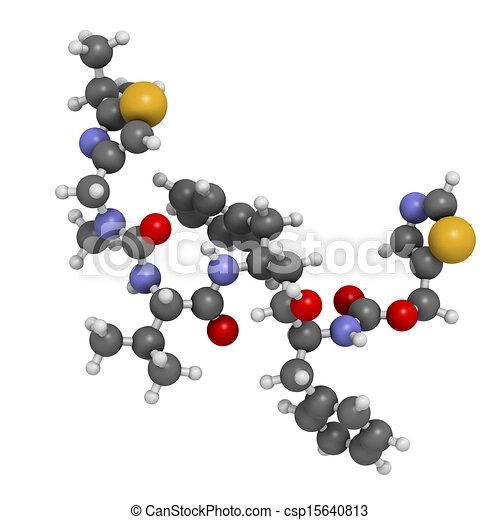 Ritonavir hiv drug (protease inhibitor class), chemical