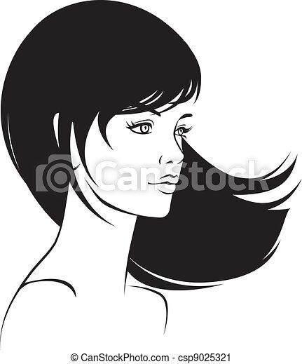 ritratto, ragazza, faccia, bellezza - csp9025321