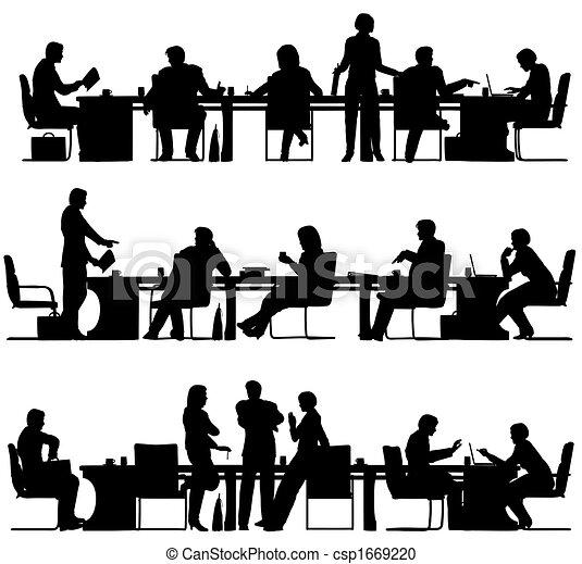 riunione, affari - csp1669220