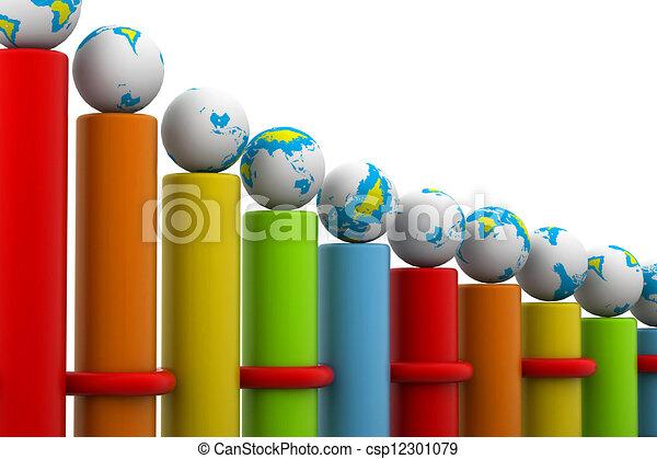 riuscito, carbonizzare, globale, sbarra, affari - csp12301079