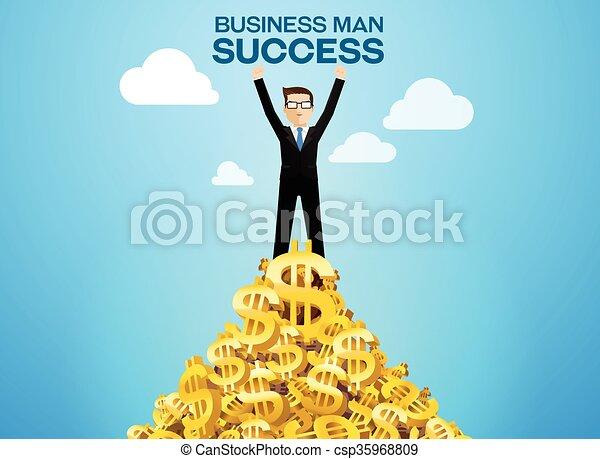 riuscito, uomo affari - csp35968809
