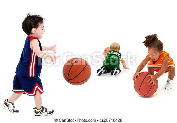rivaal, basketbal, teams, toddler, uniform - csp6718426