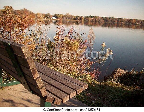 rivage, lac - csp31359151