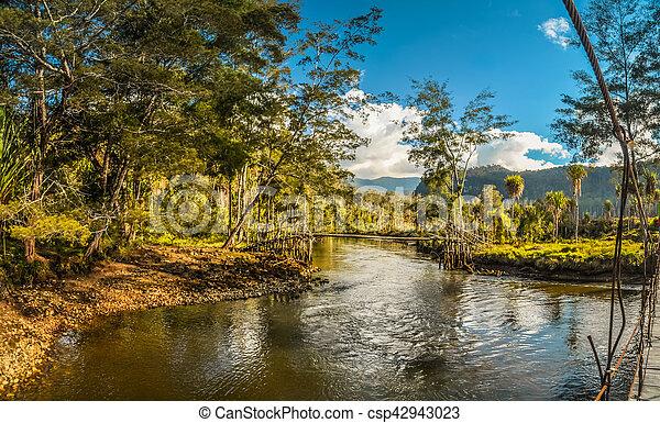 River and bridge - csp42943023