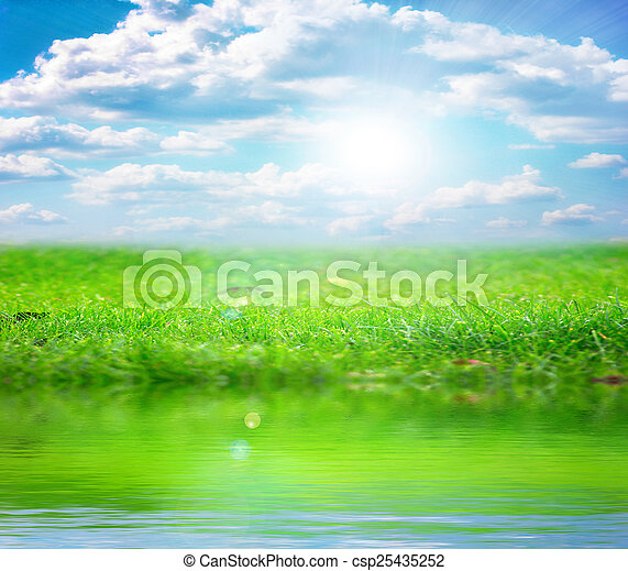 river and sky - csp25435252