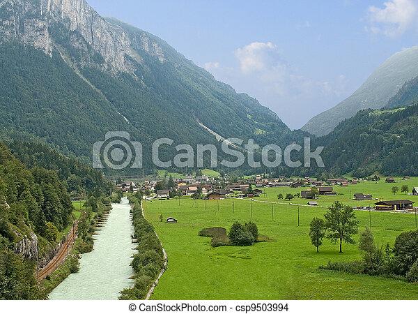 River at Alps - csp9503994