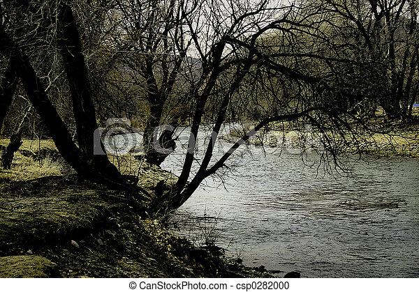 River at Dusk - csp0282000