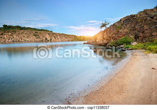 River at spring time. - csp11338037