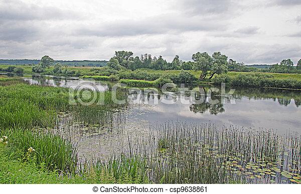 river at summer - csp9638861
