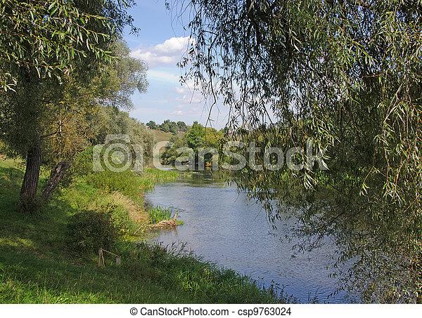 river at summer - csp9763024