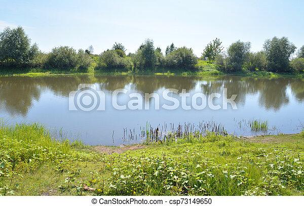 River at sunny day. - csp73149650