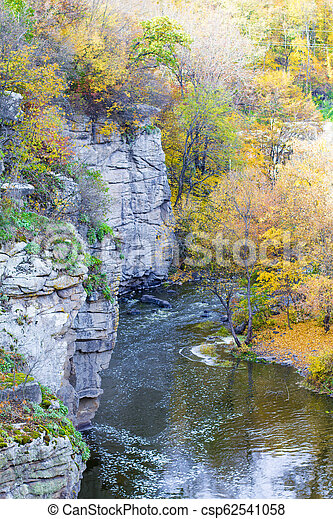 River in canyon - csp62541058
