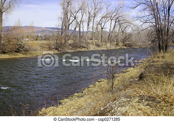 River in Early Spring - csp0271285