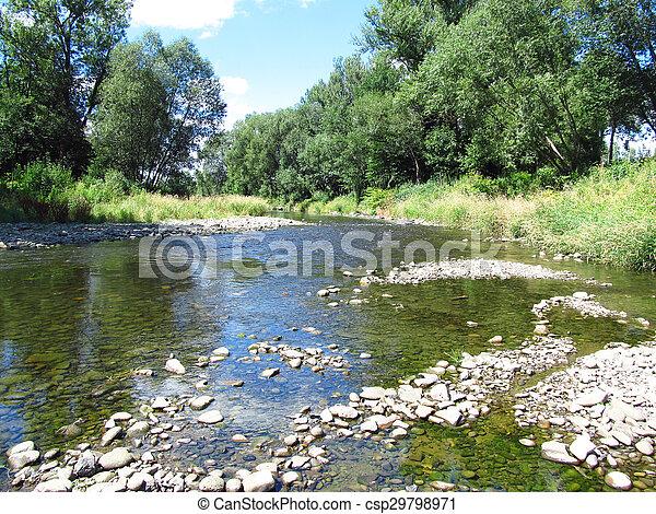river in summer - csp29798971