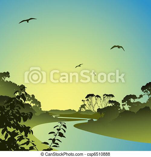 River Landscape - csp6510888