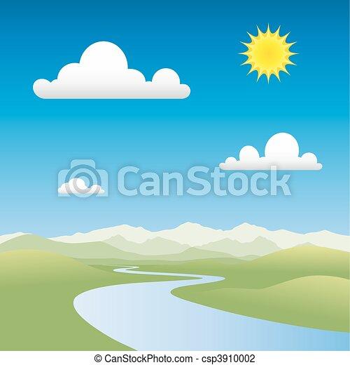 River Landscape - csp3910002