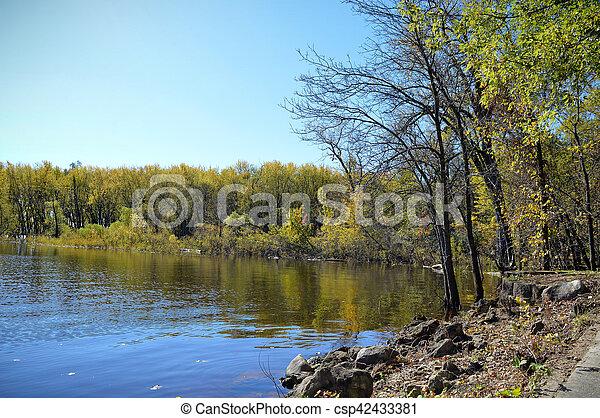 River Landscape - csp42433381