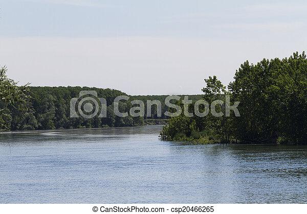 river landscape - csp20466265