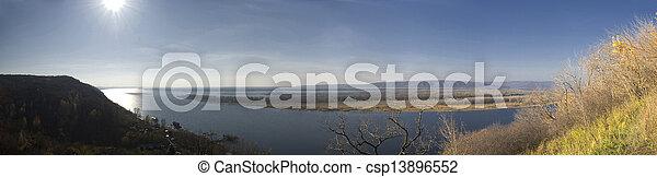 river landscape - csp13896552