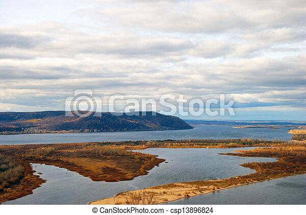 river landscape - csp13896824