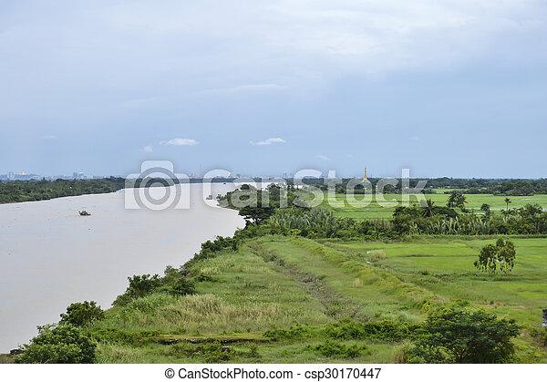 river landscape - csp30170447